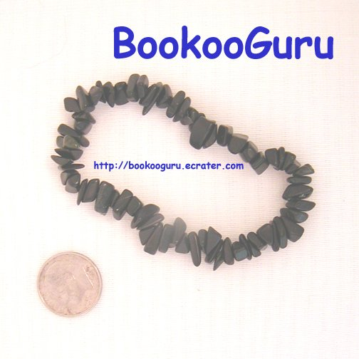 Hawaiian Blackstone Gemstone Bracelet, Genuine OOAK Original, Artisan Handcrafted, BooKooGuru