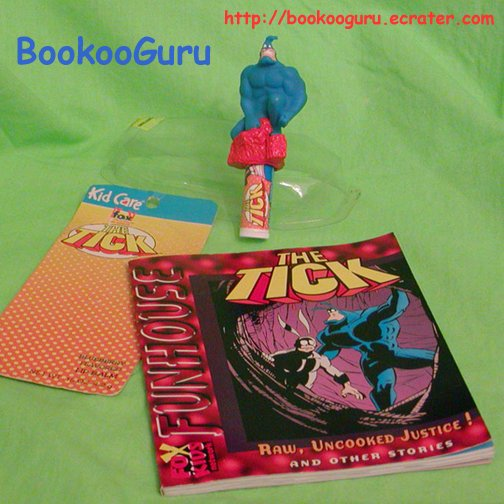 The Tick Lip Balm & Comic Book, Fox Kids Network Funhouse, Akklaim, BooKooGuru