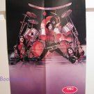 KISS 4-page foldout, Poster, Pin-up, Double sided, Gene, Ace, Paul, Peter, Eric Carr, BooKooGuru