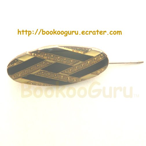 Black and Gold Pin, Brooch, Estate, Glitter, Jewelry, Vintage, OOAK, one of a kind, BooKooGuru