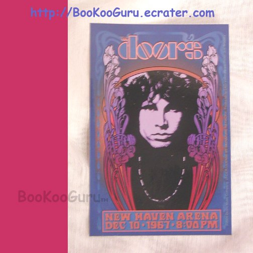 The Doors, Jim Morrison Vinyl Sticker, New Haven Arena Tribute, Dec. 10, 1967, BooKooGuru