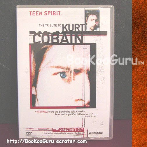 Kurt Cobain, DVD, Tribute to Kurt Cobain, Teen Spirit, Director's Cut, Nirvana, BooKooGuru