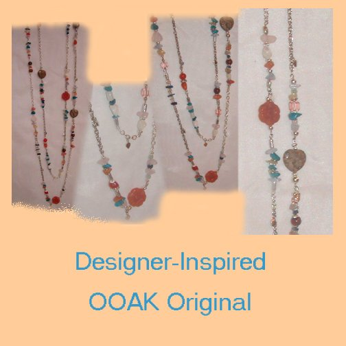 Half Price! Designer-inspired Necklace,OOAK,Original,Artisan Crafted, Handmade Jewelry