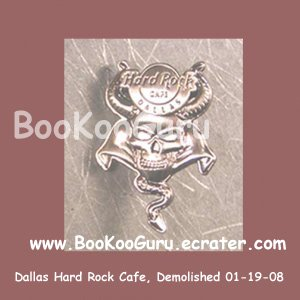 Hard Rock Cafe Dallas Texas - Skull Series Pin - Rare ! - Limited Edition 500 ! BooKooGuru