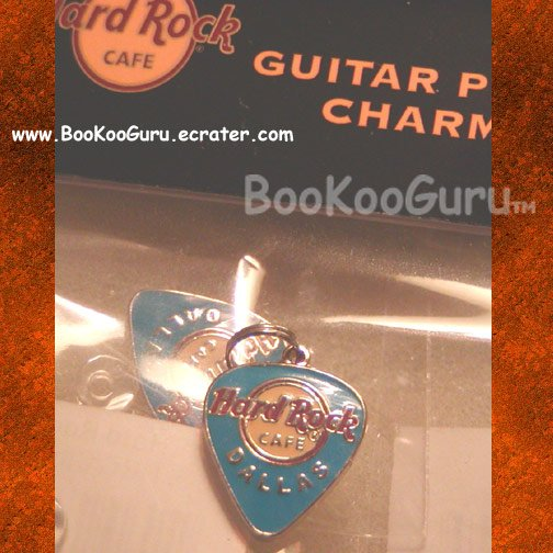 Hard Rock Cafe, Dallas Texas, Guitar Pick Charm, Rare, Cafe Demolished, BooKooGuru