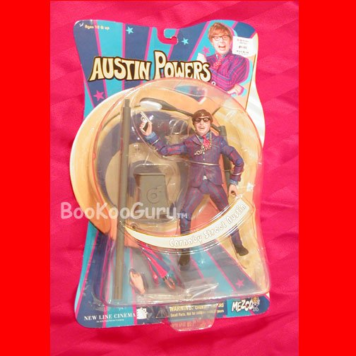Austin Powers Action Figure, Carnaby Street Austin, New in Mint Package, Poseable, BooKooGuru