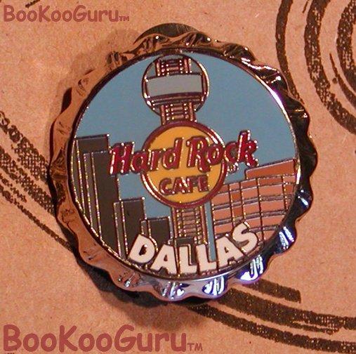Hard Rock Cafe Dallas Texas - Bottle Cap Pin  -  Limited Edition 500 ! BooKooGuru