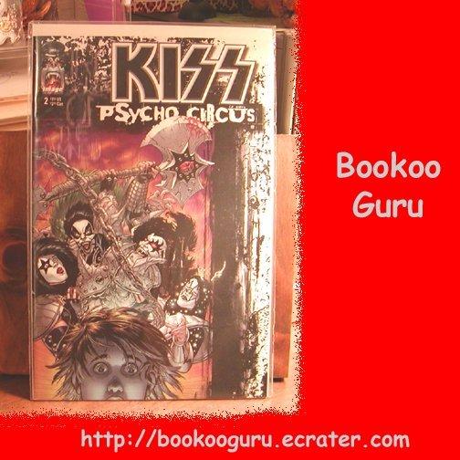 KISS (the band) Psycho Circus Comic Book, Image Brand #2, Gene Simmons, Paul Stanley, BooKooGuru
