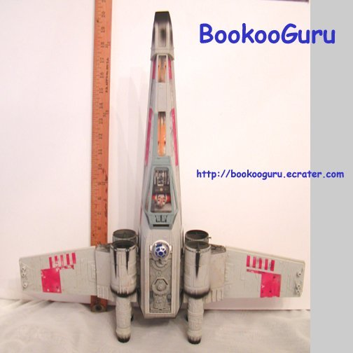 Star Wars Large X-Wing Fighter, Vintage, Hasbro, 1998 Lucas Films Ltd., BooKooGuru