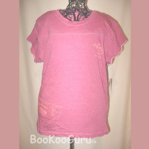 Small Hot Pink T-shirt, Hard Rock Cafe, Dallas,DEMO'D, Let's Play T, London Ticket 1971, BooKooGuru