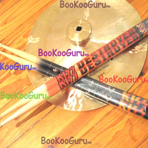 KISS - Pair of Drum Sticks - Solo Faces- Drumsticks - NEW ! - Peter Criss - Eric Carr - BooKooGuru