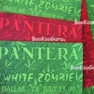 Pantera-White Zombie concert sticker 1996-Dallas Texas-Bootleg! -Metal-Diamond Darrell-Bookooguru