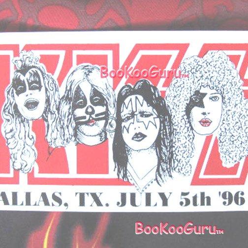 KISS concert sticker 1996 - Dallas Texas - Custom Made - Metal - Eric Carr - Bookooguru