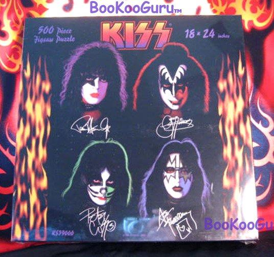 KISS, Puzzle, 1997 - Solo Faces - Aucoin - 500 piece - KISS Catalog! - Eric Carr - BooKooGuru