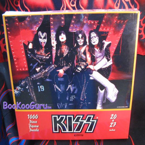 KISS - Puzzle1997 - Group - Frehley - 1000 piece - KISS Catalog! - Eric Carr - Frehley - BooKooGuru
