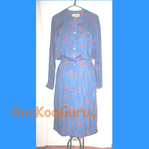 Only $5! Liz Claiborne Dress, Shirt-style, Southwest design, Classic, Vintage, BooKooGuru