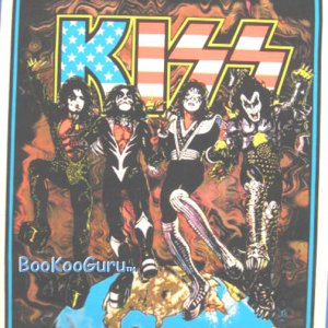 KISS Destroyer - Blacklight Poster -  Ace Frehley - Gene Simmons - Paul Stanley - BooKooGuru!