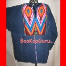 Southwest Denim Shirt, Hand-sewn Decoration, Pull-over, Vintage Clothing