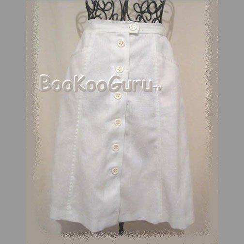 Classic A-line Skirt, Vintage Clothing, Gentle Flare, Pockets, Mister Leonard Brand