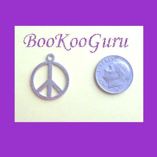 Charm, Peace Sign Charm, Silver Tone, Pendant, Make Earrings, Simple Design, Peace Sign, BooKooGuru