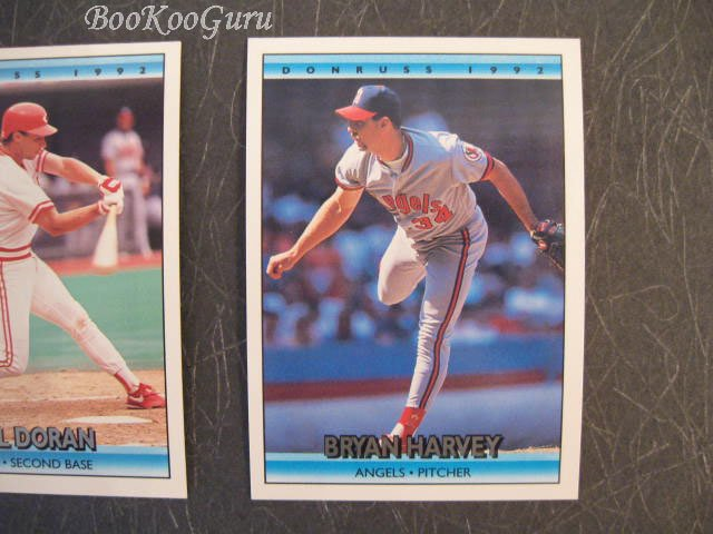 Donruss, 1992, Baseball Trading Cards, Bryan Harvey, Bill Doran, Charlie Hough, Set of 3, Near Mint