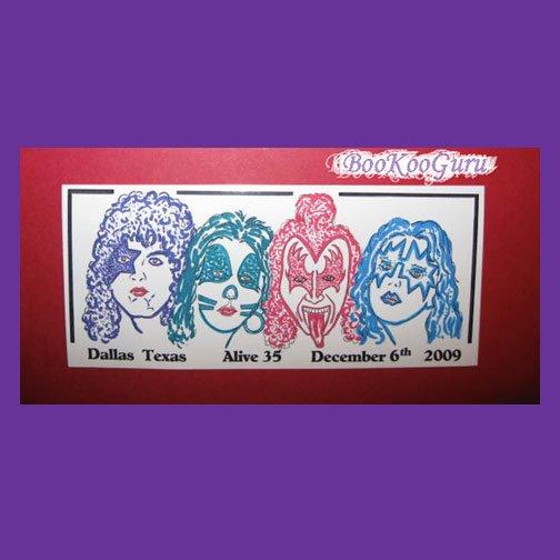 KISS Alive 35 Concert Sticker, Dallas, TX, December 6, 2009