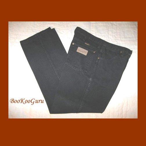 Vintage Wrangler Jeans, Black denim, Size 33x30, Style 936WBK W410