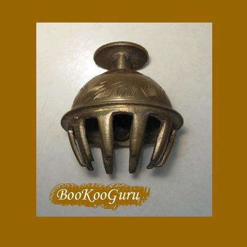 Brass Bell, Vintage, Oriental-style, Loud Clapper, BooKooGuru