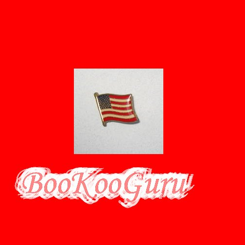 American Flag Lapel Pin, New, Vintage Style, Patriotic, Tea Party, Vintage Jewelry