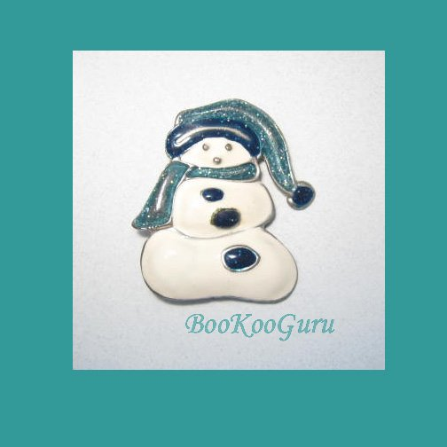 Vintage Snowman Brooch, Snowman Pin, Rare, Vintage Jewelry