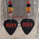 KISS Logo Guitar Picks Earrings,Artisan Original Design,Made in Texas