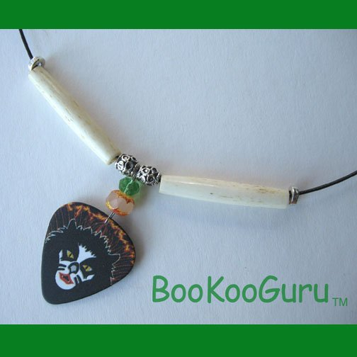 KISS Peter Criss Guitar Pick Necklace,Rock n Roll Over,Artisan Crafted in Texas