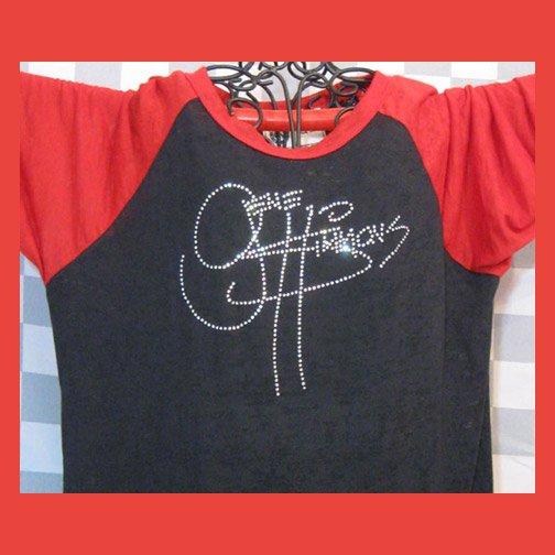 Gene Simmons Autograph Signature KISS! Bling Rhinestone Embellished T-shirt, Free Shipping
