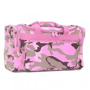 Pink Camoflage Duffle Bag