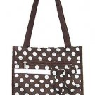 Brown / White Dot Tote
