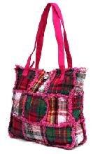 Pink Ragged Patch Handbag