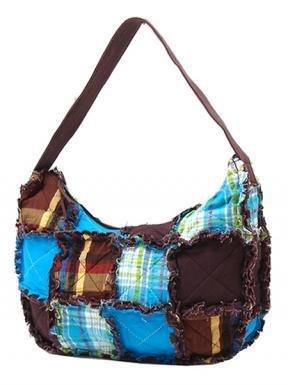 Turqoise Hobo Ragged Patch Handbag