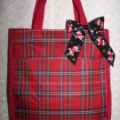 Red Plaid Christmas Tote