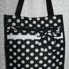 Black / White Dot Tote