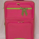 Large Fushia/Green Dot Rolling Suitcase