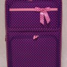 Large Purple/Pink Dot Rolling Suitcase
