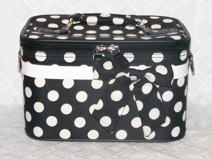 Small Black / White Dot Cosmetic Case