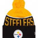 PITTSBURGH STEELERS NFL NEW ERA ON FIELD SIDELINE BEANIE KNIT HAT - AUTHENTIC