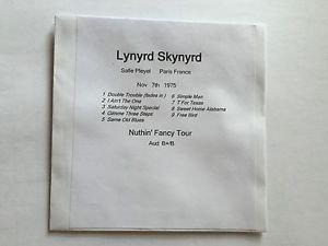 Lynyrd Skynyrd CD Paris 1975 Nuthin' Fancy