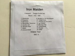 Iron Maiden CD Reggio Emilia 1981 Killers