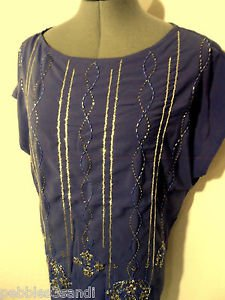 Nwt VERY J Beaded Top womens SML Purple silver Embellished shirt blouse Formal
