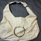 NEW Faux LEATHER Baguette Purse Cream Ivory shoulder bag Tote Pleather SuperSoft