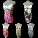 New F&G Bodycon Dresses womens XS,S Floral Roses Pearl Leopard Cheetah Stretch