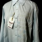 Nwt RETRO MALE Shirt mens SMLXL Blue Pearl snap Long sleeve New Mexico Carlsbad