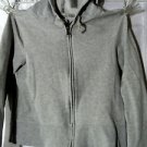 OLD NAVY Hoodie girl/juniors S Gray Heathered Full zip up Sweatshirt Long sleeve